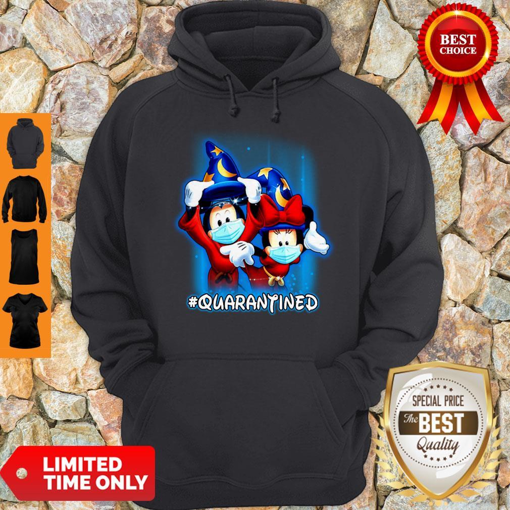 Good Wizard Mickey And Minnie Mouse Mask #Quarantined Coronavirus Hoodie