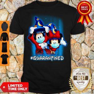 Good Wizard Mickey And Minnie Mouse Mask #Quarantined Coronavirus Shirt