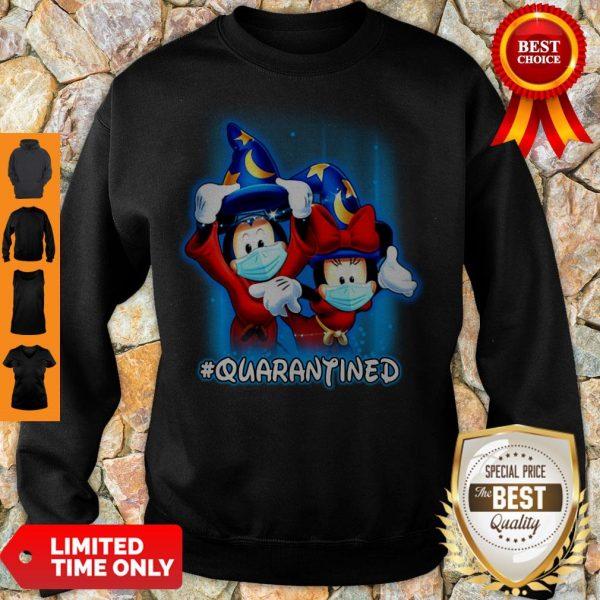 Good Wizard Mickey And Minnie Mouse Mask #Quarantined Coronavirus Sweatshirt