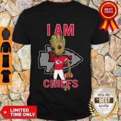 Nice Baby Groot I Am Kansas City Chiefs Logo Shirt