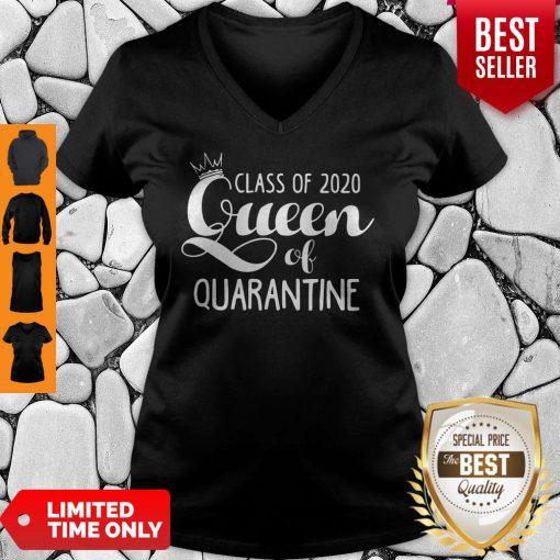 Nice Class Of 2020 Queen Of Quarantine V-Neck
