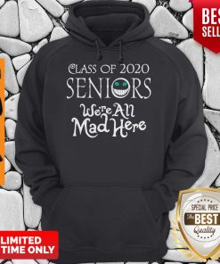 Nice Class Of 2020 Seniors We're All Mad Here Hoodie