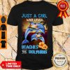Official Just A Girl Who Loves Beaches And Dolphins Shirt