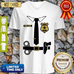Police Officer Costume Shirt Halloween Policeman Boys Men V-Neck