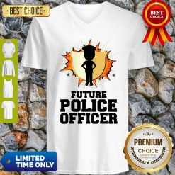 Pretty Future Police Officer Gift For Policeman And Women V-Neck