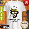 Pretty Monkey Smoking Weed Cannabis Quarantine And Chill Shirt - Design By Refinetee.com