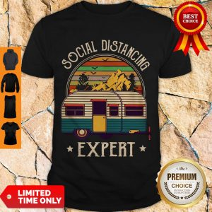 Pretty Nice Camping Social Distancing Expert Vintage Shirt
