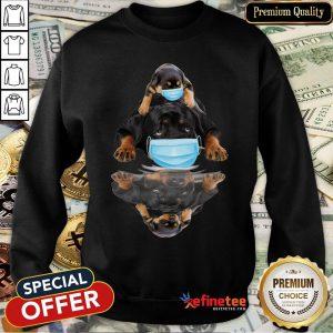 Pretty Rottweilers Mask Water Mirror Sweatshirt- Design By Refinetee