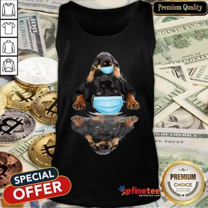 Pretty Rottweilers Mask Water Mirror Tank Top - Design By Refinetee