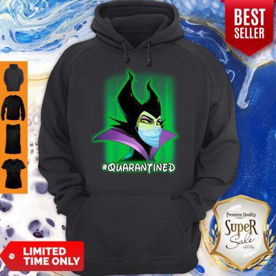 Pro Disney Maleficent Mask #Quarantined Coronavirus Hoodie - Design By Refinetee.com