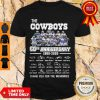 The Cowboys 60th Anniversary 1960 2020 Signature Thank You For The Memories Shirt - Design By Refinetee.com