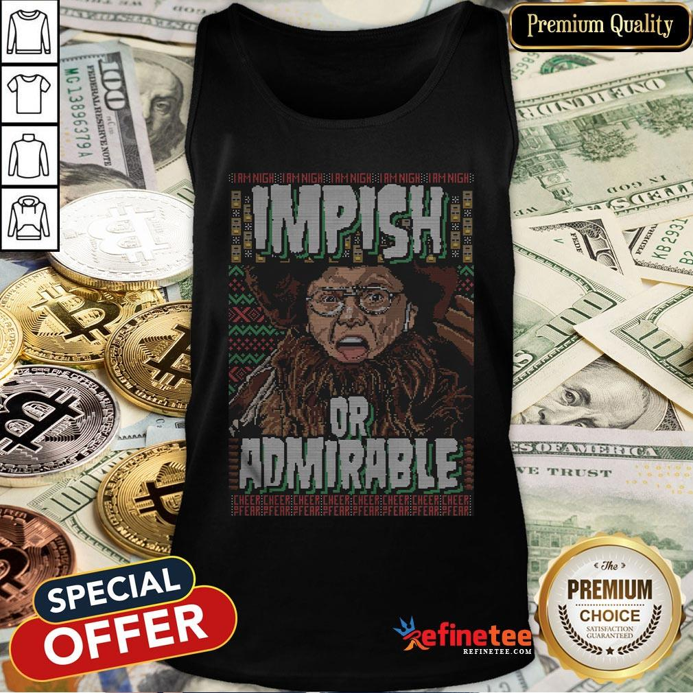 Top I Am Nigh Impish Or Admirable Cheer Tank Top - Design By Refinetee