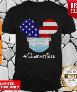 Top Mickey Mouse Mask Quarantined Covid-19 American Flag Shirt - Design By Refinetee.com