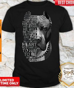 Top Pitbull He Is Your Friend Your Partner Youe Defender Shirt