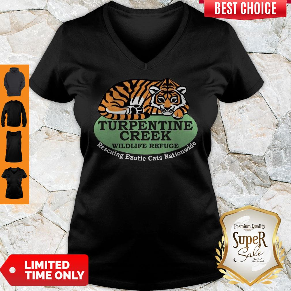 Top Rescuing Exotic Cats Nationwide V-neck - Design By Refinetee.com