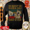 Funny Bear Shiba Inu Dad Ever Vintage Sweatshirt