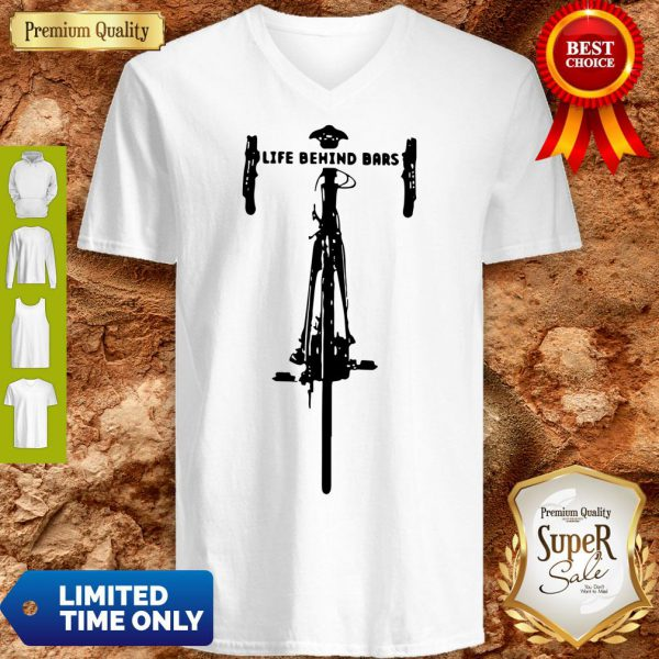 Funny Bicycle Life Behind V-Neck