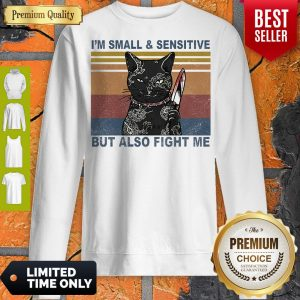 Funny Black Cat Yakuza I'm Small And Sensitive But Also Fight Me Sweatshirt