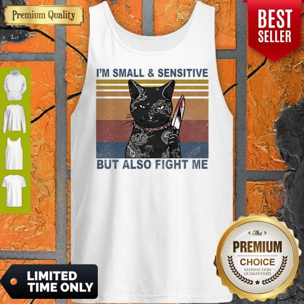 Funny Black Cat Yakuza I'm Small And Sensitive But Also Fight Me Tank Top