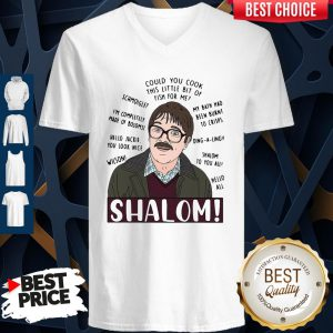 Funny Shalom Could You Cook This Little Bit Of Fish For Me V-Neck