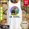Funny Turtle Mask Ew People Tank Top