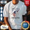 Funny Unicorn Proud To Be An Americorn American Flag Independence Day Shirt