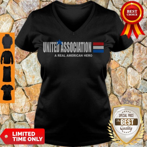 Funny United Association A Real American Hero V-Neck