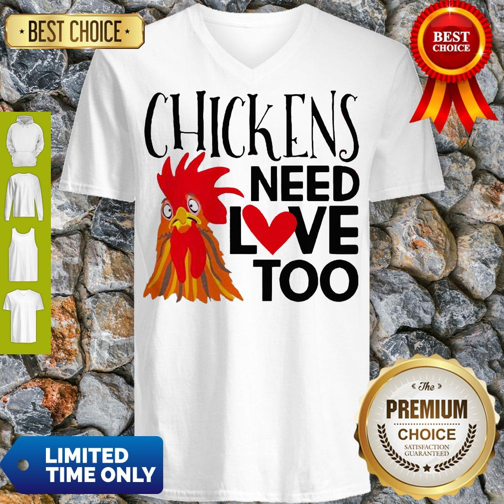 Good Chickens Need Love Too V-Neck