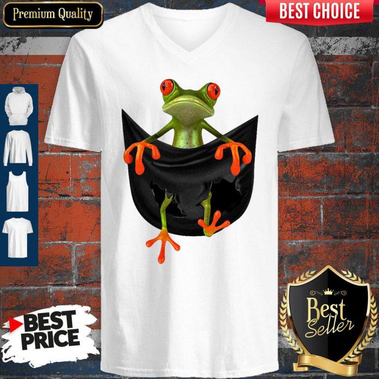 Good Frog In Pocket V-Neck