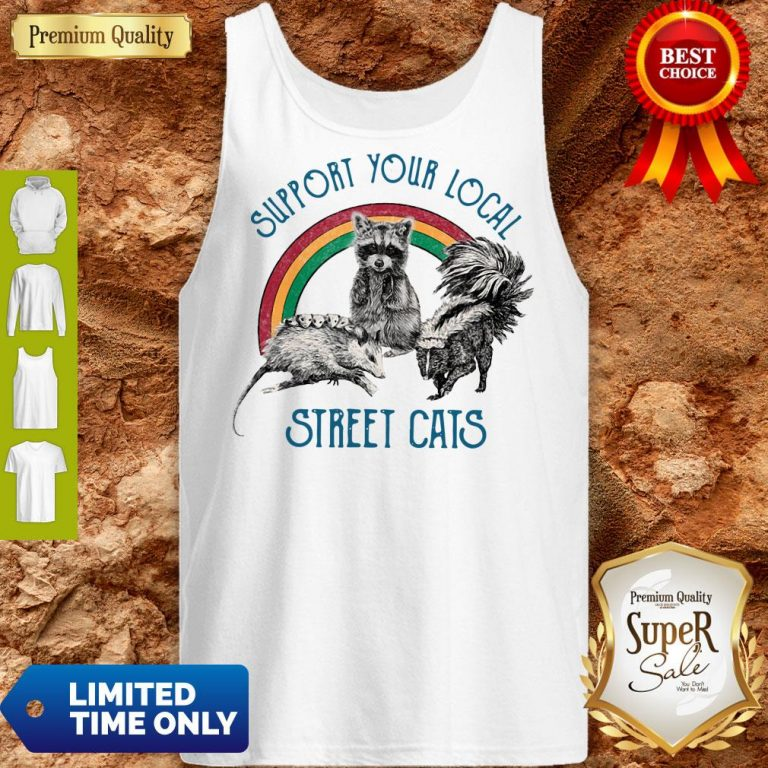 Good Raccoon Support Your Local Street Cats Tank Top