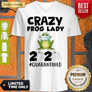 Nice Crazy Frog Man 2020 Toilet Paper Quarantined V-Neck