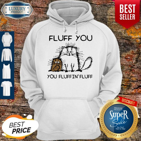 Nice Fluff You You Fluffin'fluff Funny Cats Hoodie