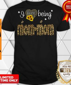Nice I Love Being Mom Mom Leopard Sunflower Shirt Classic Shirt