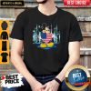 Nice Mickey Mouse Hug Heart God Bless America Flag Independence Day Shirta