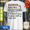 Pretty Ballet Grandpa Knows Everything If He Doesn't Know He Makes Stuff Up Really Fast Shirt