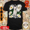 Pretty White German Shepherd Daisy Flower Classic T-Shirt