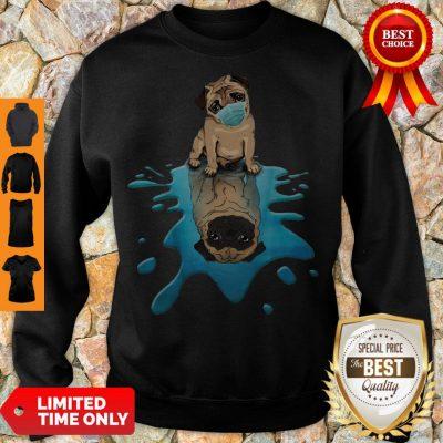 Pro Pug Dog Face Mask Sweatshirt
