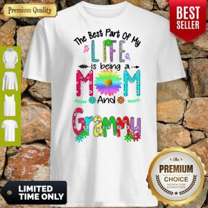 Pro The Best Part Of My Life Is Being A Mom And Grammy Shirt