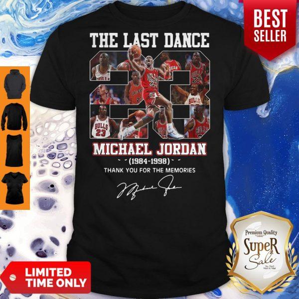 Pro The Last Dance 23 Michael Jordan 1984-1998 Thank You For The Memories Shirt