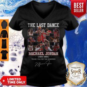 Pro The Last Dance 23 Michael Jordan 1984-1998 Thank You For The Memories V-Neck