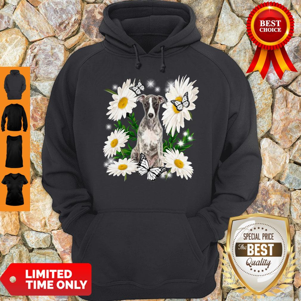 Pro Whippet Daisy Flower Classic T-Hoodie