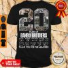 Top 20 Year Of Band Of Brothers Thank You For The Memories Signatures Shirt