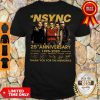 Top Nsync 25th Anniversary 1995 2020 Thank You For The Memories Signatures Shirt