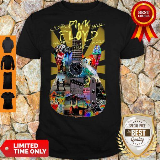 Top Pink Floyd Guitar Signatures Shirt