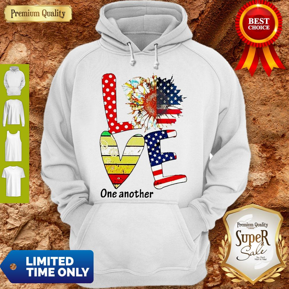 Top Sunflower American Love One Another Vintage Hoodie