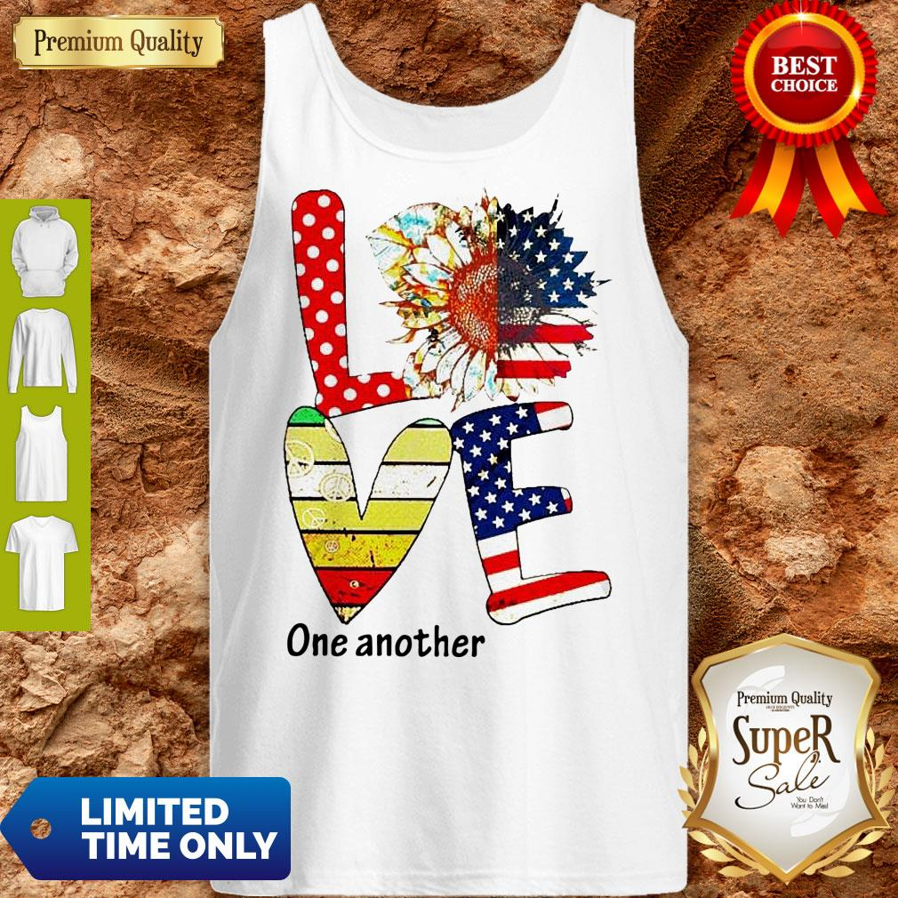 Top Sunflower American Love One Another Vintage Tank Top