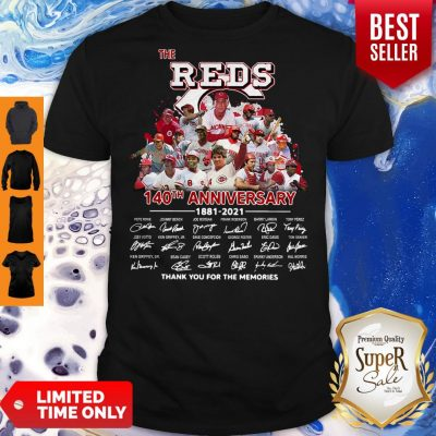 Top The Red 140th Anniversary 1981 2021 Thank You For The Memories Shirt