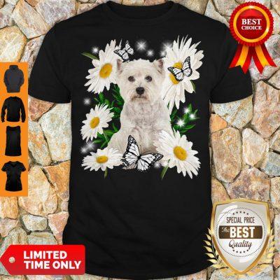 Top Westie Daisy Flower Classic T-Shirt