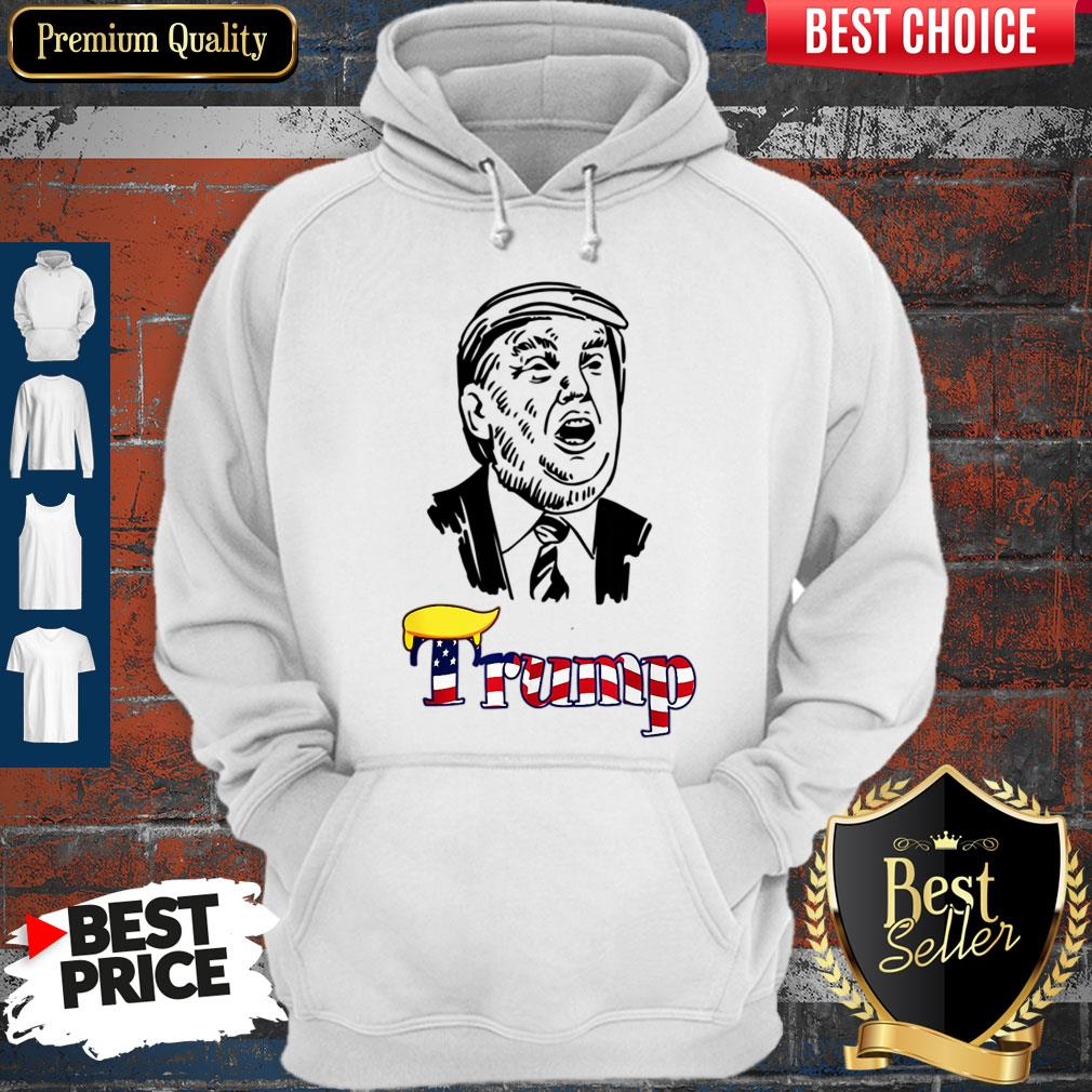 Donal Trump Political Reelection 2020 USA Hair Dew Hoodie