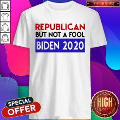 Good Fast Shipping Republican But Not A Fool Biden 2020 Shirt